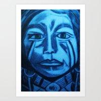 Green Eyed Indian Art Print