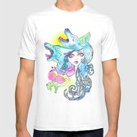 Miss Canine Mens Fitted Tee White SMALL