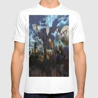 Owl Tree Mens Fitted Tee White SMALL