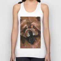 Chow dog portrait Unisex Tank Top