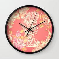 Vintage Flower Pin Up - … Wall Clock