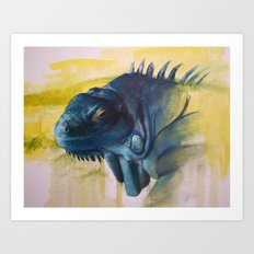 Green Iguana (Iguana iguana) Art Print