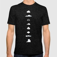 Famous Clouds Mens Fitted Tee Tri-Black SMALL