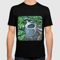 Watering Can Mens Fitted Tee Black SMALL