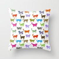 Cat Pattern Throw Pillow