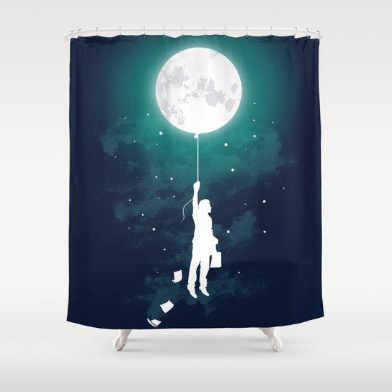 Burn the midnight oil  Shower Curtain