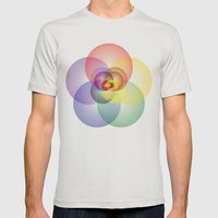 Colored Circles Mens Fitted Tee Silver SMALL