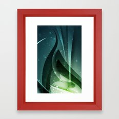 Green fantasy cover Framed Art Print