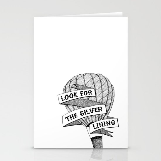 Look for the silver lining Stationery Card