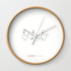 Hungarian Embroidery no.2 Wall Clock