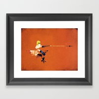 The Yellow Flash Framed Art Print