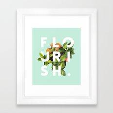 Flourish #society6 #buyart #typography #artprint Framed Art Print