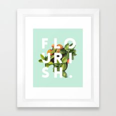 Flourish #society6 #buya… Framed Art Print