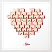 i heart robot Art Print