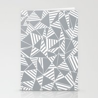 Abstract Lines B Grey Stationery Cards