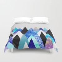 Blue Peaks Duvet Cover