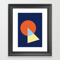Triangle And Circle Framed Art Print