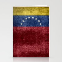 The national flag of the Bolivarian Republic of Venezuela -  Vintage version Stationery Cards