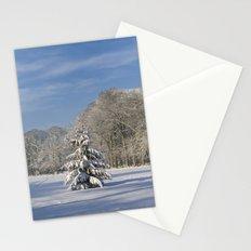 Snowy Christmas Tree Stationery Cards