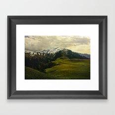 Spider mountain Framed Art Print