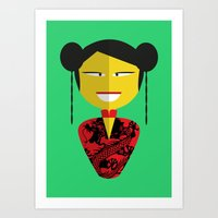 Chinese Doll Art Print