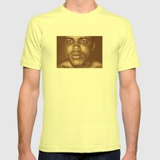 round 1...cassius clay Mens Fitted Tee Lemon SMALL