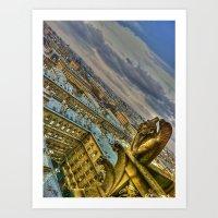 Gargoyle Of The Notre Da… Art Print