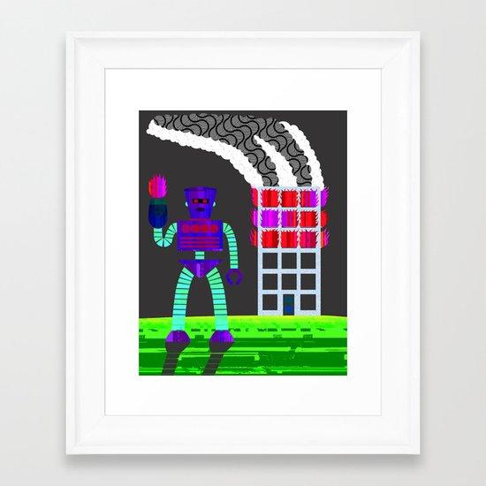 the arsonist Framed Art Print
