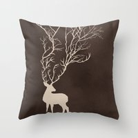Oh Dear Throw Pillow