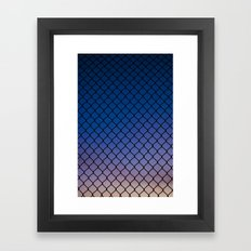 Scaled Fence Framed Art Print