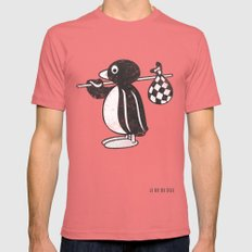 Pingu Mens Fitted Tee Pomegranate SMALL