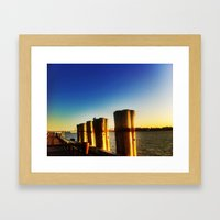 Looking at the sunset Framed Art Print