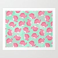 Pink Unicorn LTK Pattern Art Print