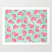 Pink Unicorn LTK Pattern Art Print