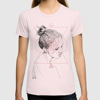 Face Facts II Womens Fitted Tee Light Pink SMALL