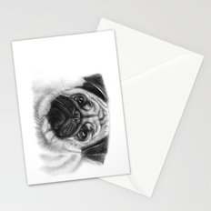 Cute Pug Portrait Stationery Cards