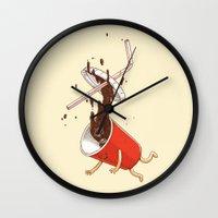 Soda Fall Wall Clock
