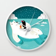 Hitching A Ride  Wall Clock