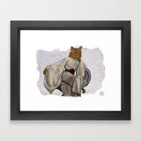 La Grande Dame, Couture Kitty Framed Art Print