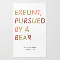 Shakespeare - The Winter's Tale - Exeunt Exit Pursued by a Bear Rug