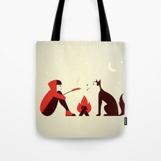 Little Red and Big Bad Tote Bag
