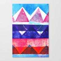 Press print and digital triangles Canvas Print
