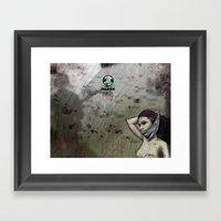 Flatlining Framed Art Print