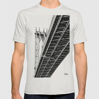 Over, Under Mens Fitted Tee Silver SMALL