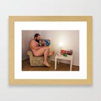 Beareading Framed Art Print