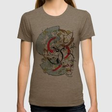 abstract Womens Fitted Tee Tri-Coffee SMALL