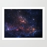 Stars And Nebula Art Print
