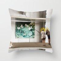 Face The Future Throw Pillow