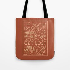 Let's Get Lost Tote Bag