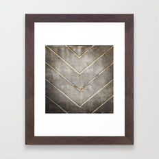 Concrete Chevron Framed Art Print